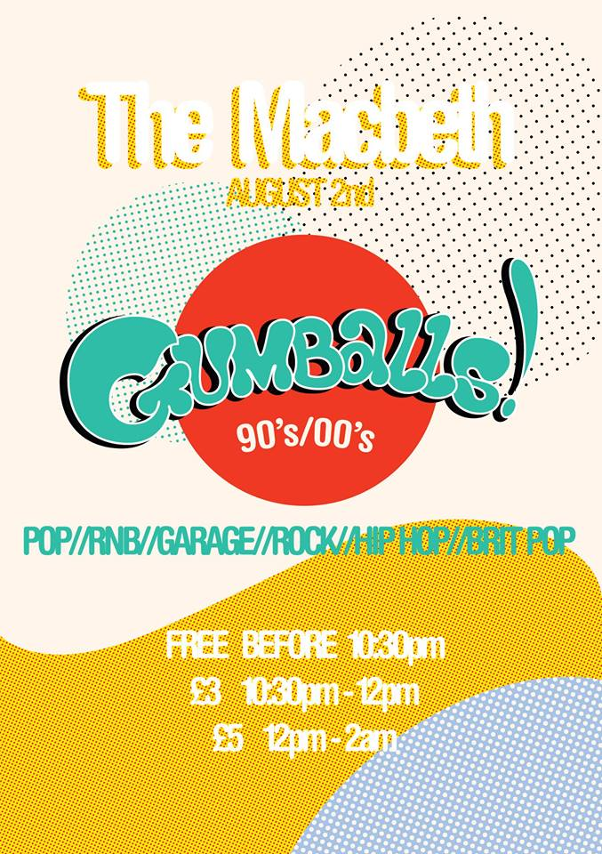 A new night which will be held monthly at The Macbeth, starting August 2nd, Djs will be spinning the very best hits from the 90s-00s. Playing ALL types of music from Pop,RNB,Rock,Hip hop,Brit pop,Garage, ETC maybe even some Acid House. FREE until 11pm 5 pound 11pm-2am/ 3 pound if you tag your name on the wall x Get merry on some tequila slushies 2 for 10£ Everybody will need to bring I.D even if your pushing 70 :)