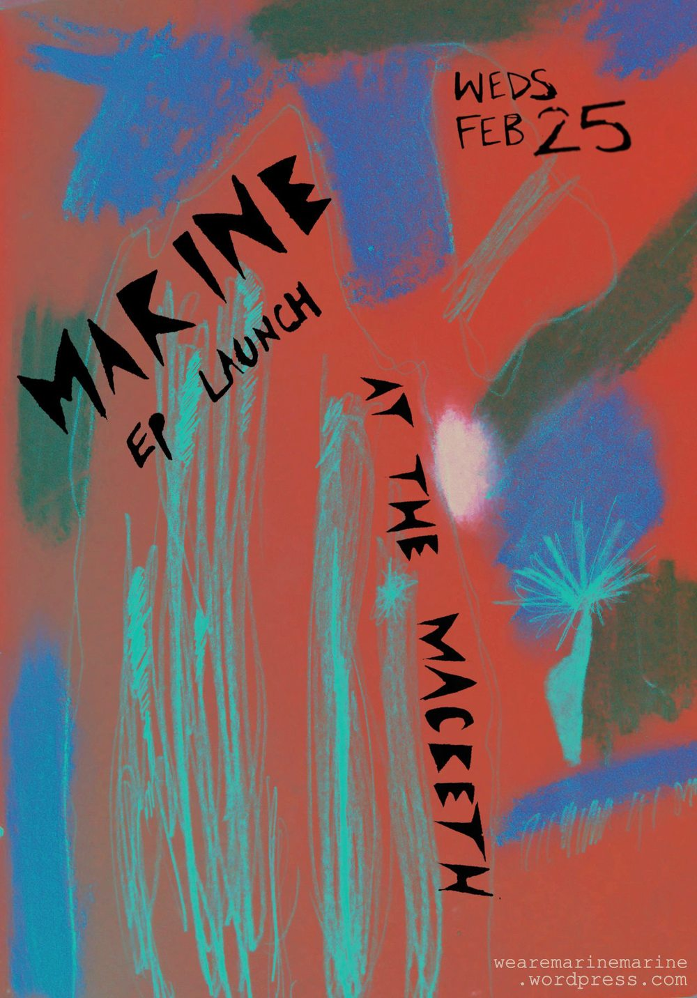 We are super excited to announce that M A R I N E's debut EP is going to be released on February 25th 2015 and we're going to have a big party to celebrate! Put the date in your diary now!