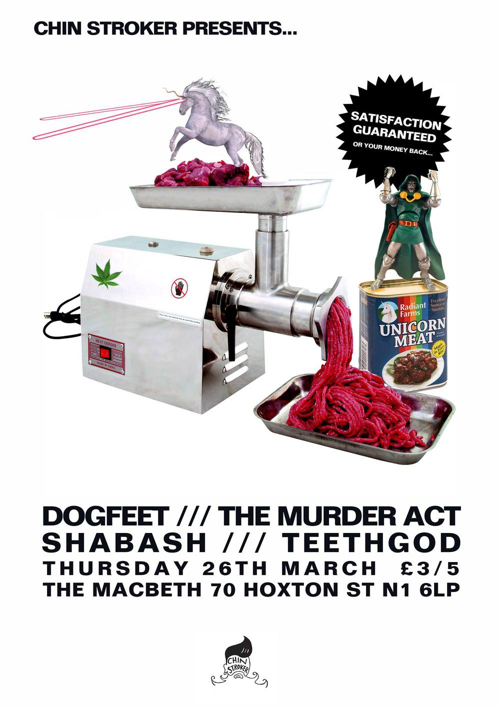 Love is in the air and incest in the undergrowth - it's all music to me ears... Something strange is happening at The Macbeth on the 26th March, a shapeshifting mass of musicians are taking to our stage - come, watch and listen as the drama unfolds... Starring Dogfeet  The Murder Act Shabash Teethgod PUFFER Djs will play the part of court jester and add their musical influences to the mixture through the means of the songs of others.  £3 Adv https://billetto.co.uk/en/events/cs-dogfeet-the-murder-act-shabash-teethgod £5 OTD