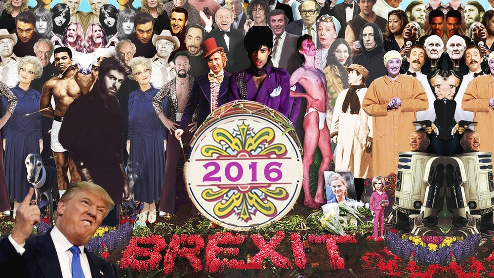 2016 has been a complete and utter joke. And losing George Micheal was just one step too far. This year we've lost some of the greatest humans that have walked the planet. Not to mention Brexit, Trump, Farage, the list is endless. We thought it would be a good idea to show 2016 what we really thought and throw a big old party and send it on it's merry way and to make sure it never darkens our doorstep again. We'll be playing loads of Prince, Bowie, George Micheal, Earth, Wind & Fire, A Tribe Called Quest, The Eagles, Motorhead, Dead or Alive, Status Quo, Leonard Cohen plus lots more. We'll also be playing tributes to the late and the great from other areas of culture like: Muhammed Ali, Howard Marks, Alan Rickman, Victoria Wood, Terry Wogan. Names on the wall for £3 entry b4 10:30pm - £5 All night after And FUCK YOU 2016
