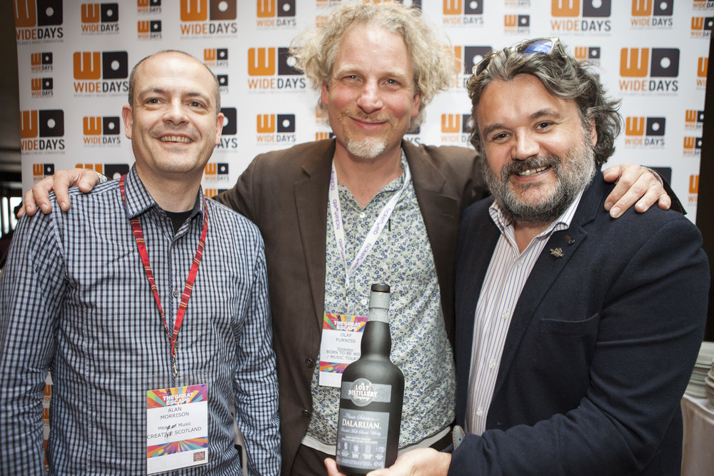 Alan Morrison (Creative Scotland), Olaf Furniss (Wide Days) & Ewan Henderson (Crucial Drinks) JPG