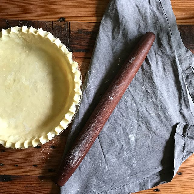 French rolling pins are simply the best for homemade pie crust dough. Doesn't hurt to find one made from beautiful reclaimed mahogany either.