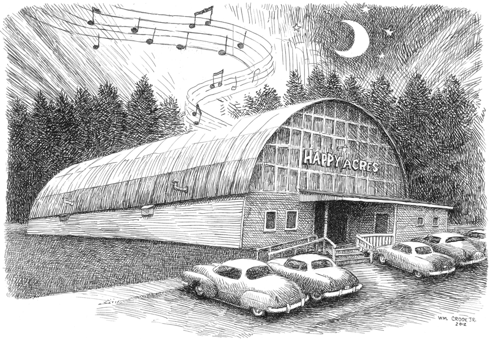 Happy Acres as illustrated by William Crook Jr.