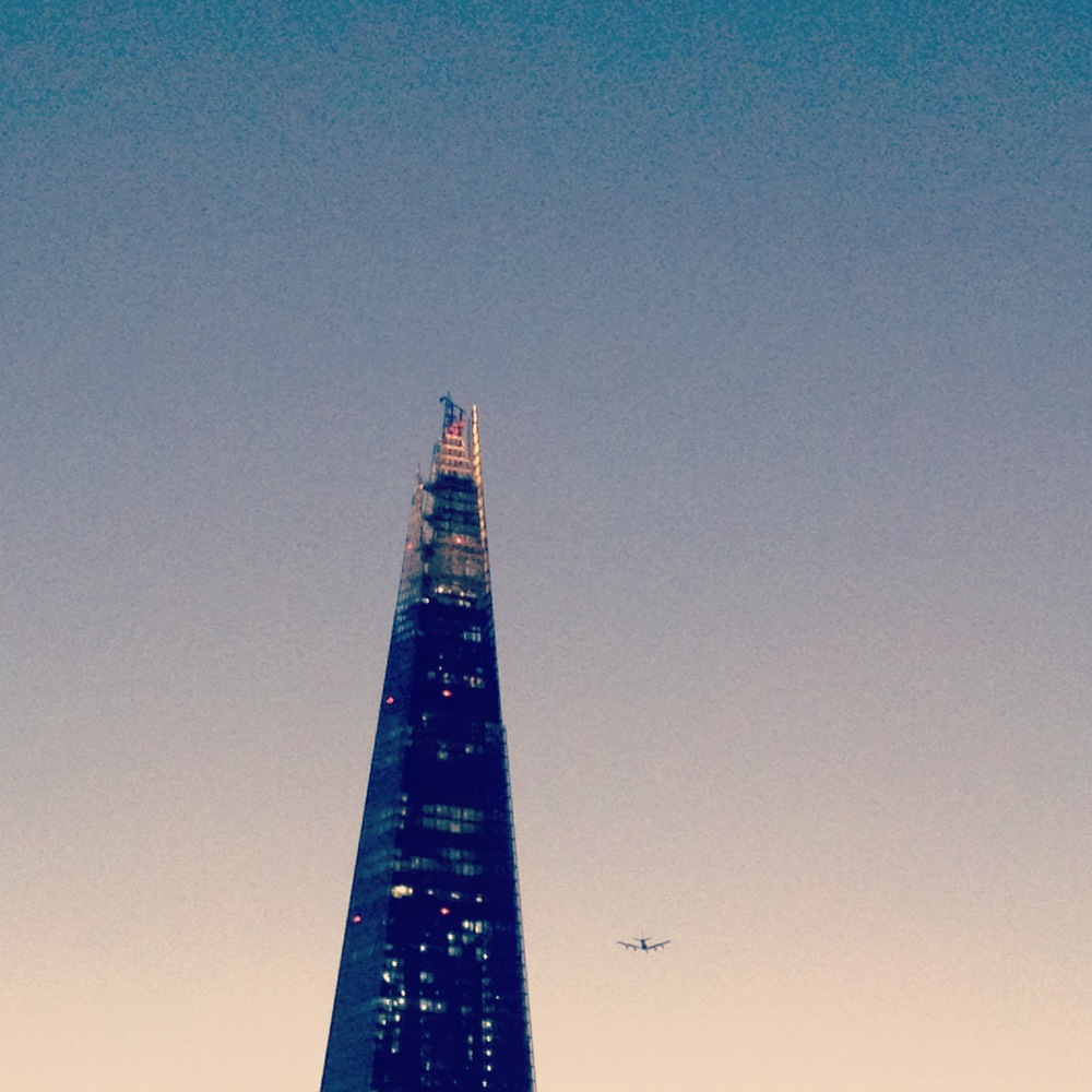 London, Lots of construction, Lots of air traffic.