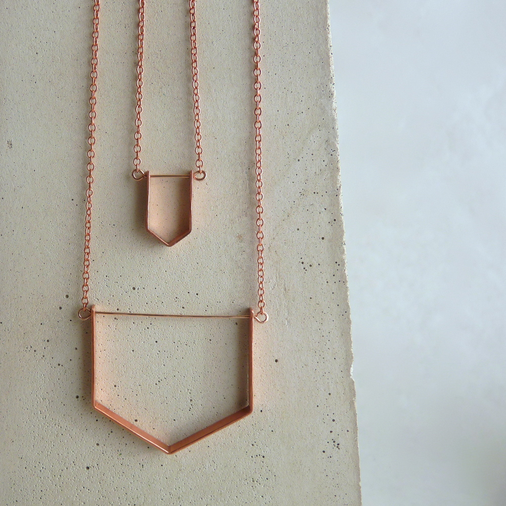 Little PARAGON & Long VENTANA necklaces