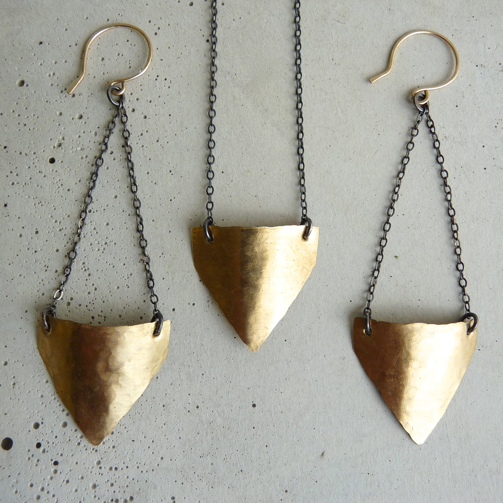 SPADE necklace & earrings