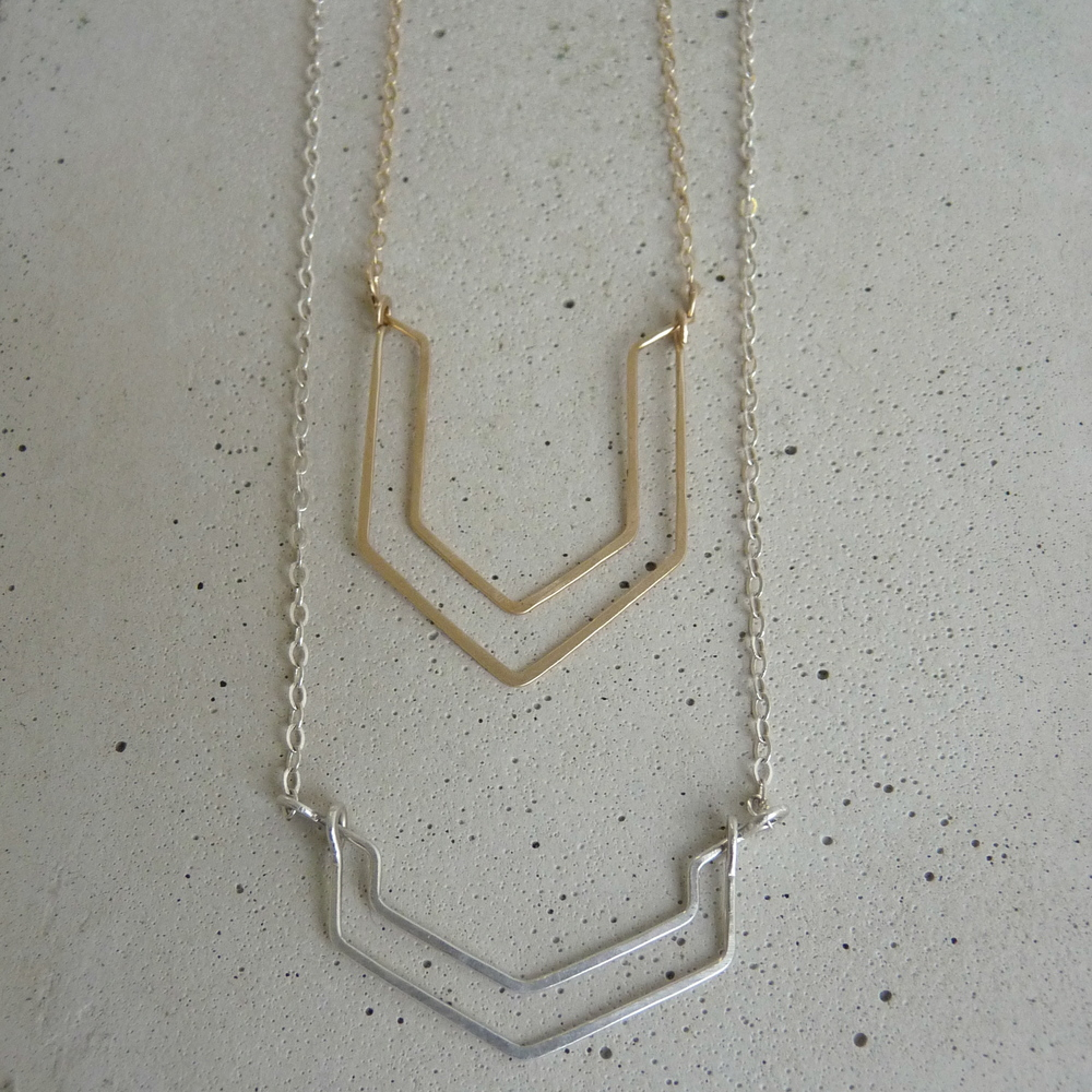 VALLEY necklace & VENT necklace