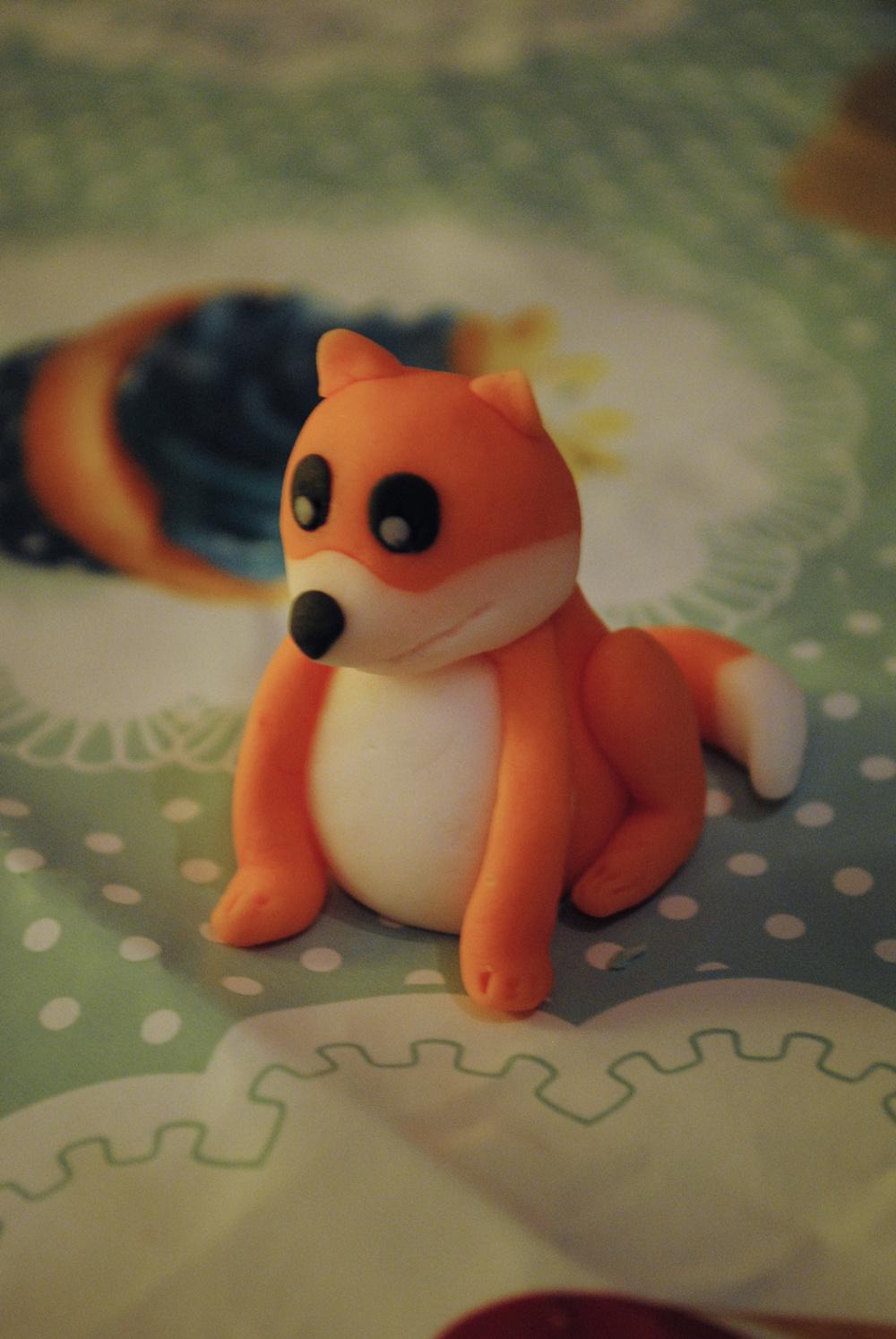 A fancy fondant fox