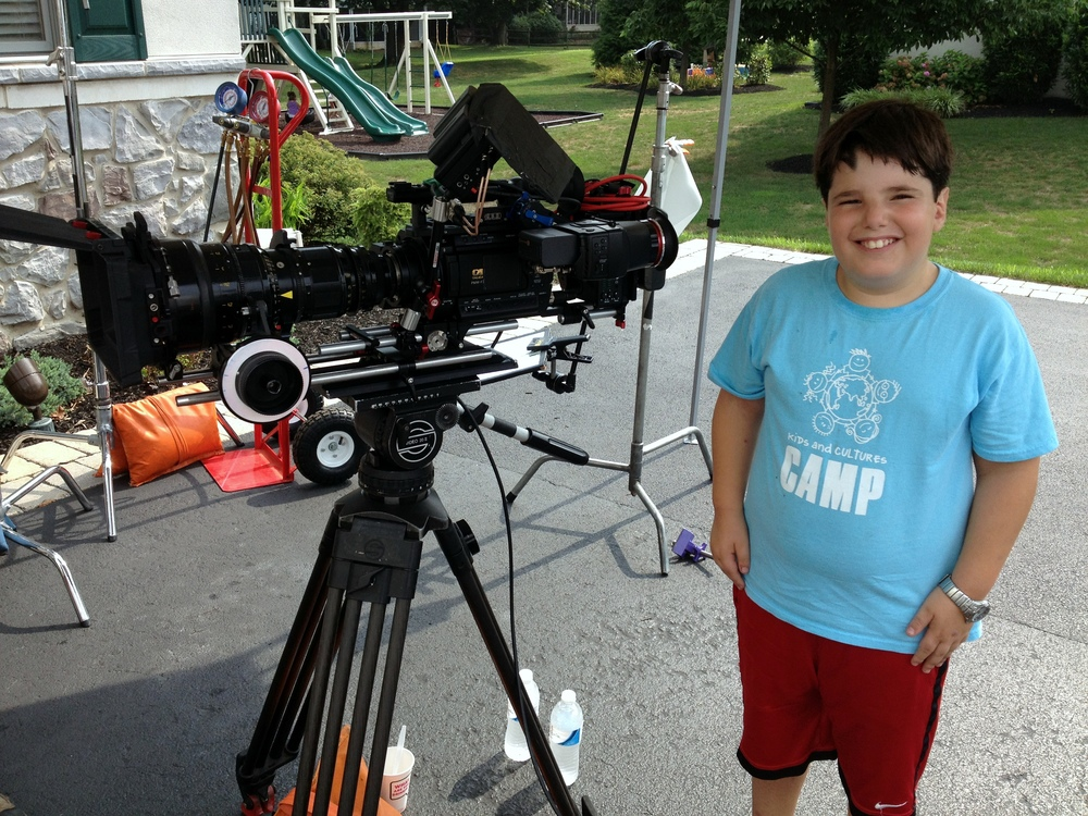 An enthusiastic helper who added himself to the team during a location shoot. We had him directing later that day!