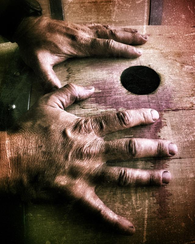 Hal's hands on Barrel