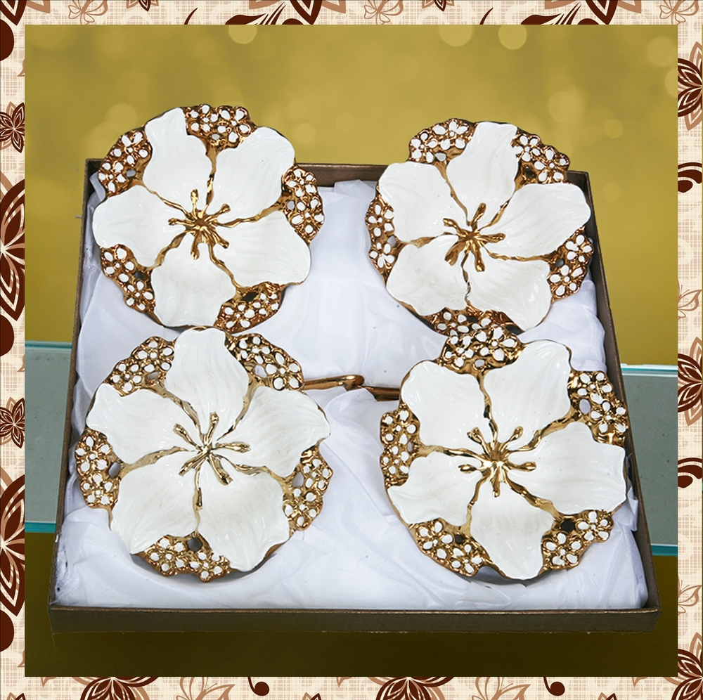 Product code:G1022: Porcelain custard bowls. Set of four. Rs 1000plus tax.For bulk order rate email mousumii@goshopart.com