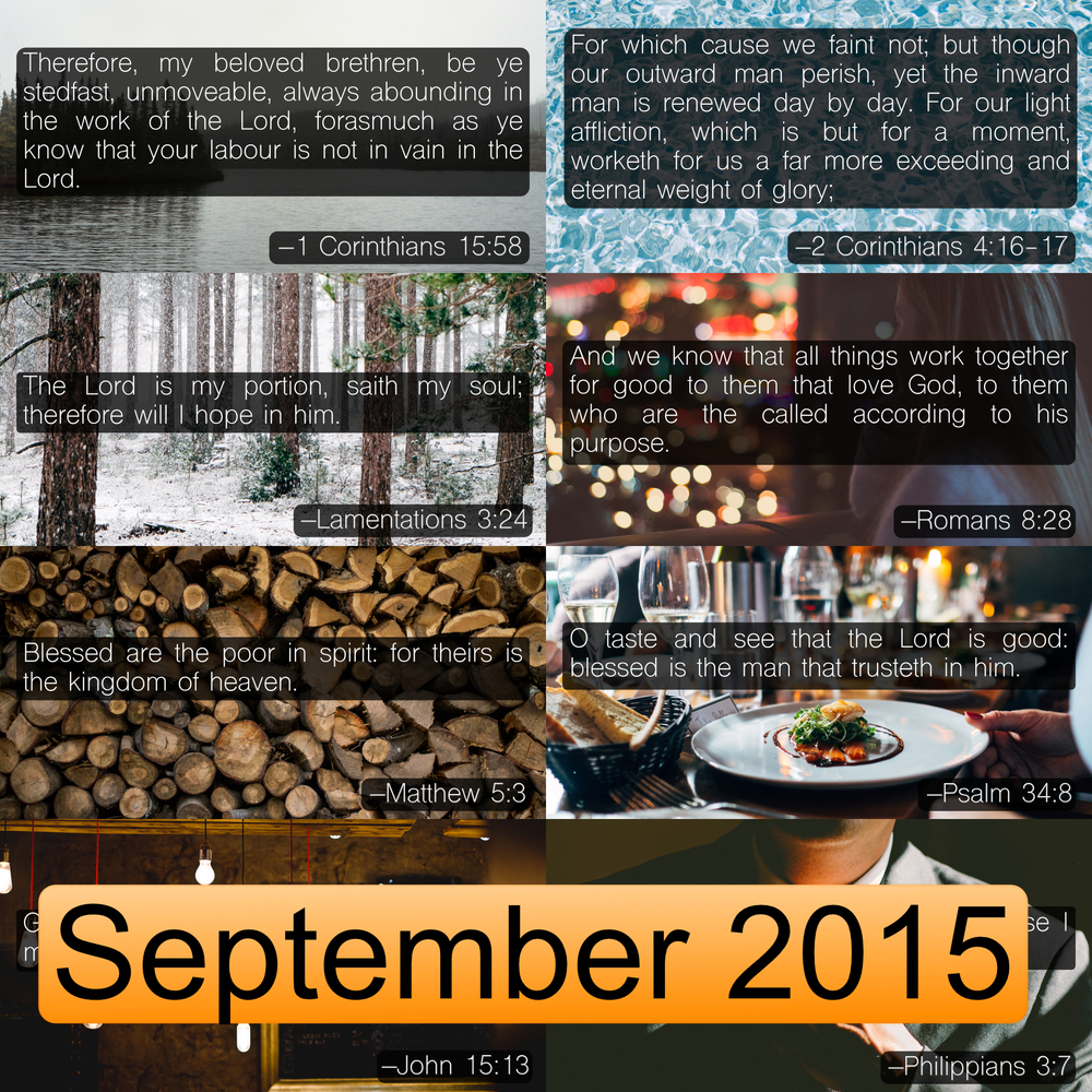 September 2015 Image Pack