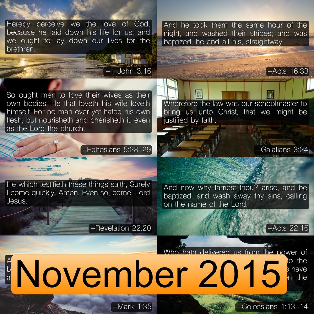 November 2016 Image Pack