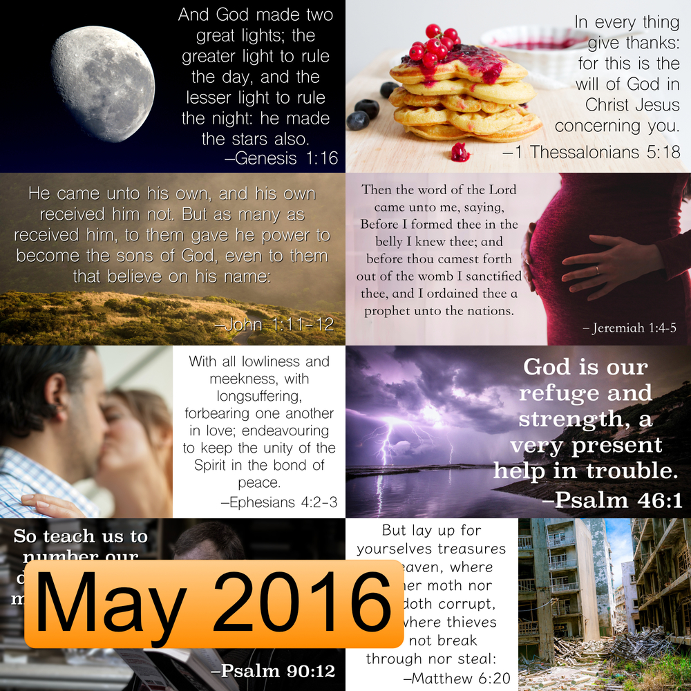 May 2016 Image Pack