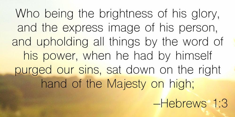 Image result for hebrew 1:3 images