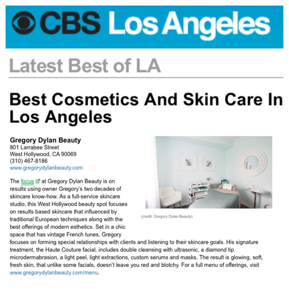 "CBS Los Angeles ""Best Cosmetics and Skin Care in Los Angeles"""