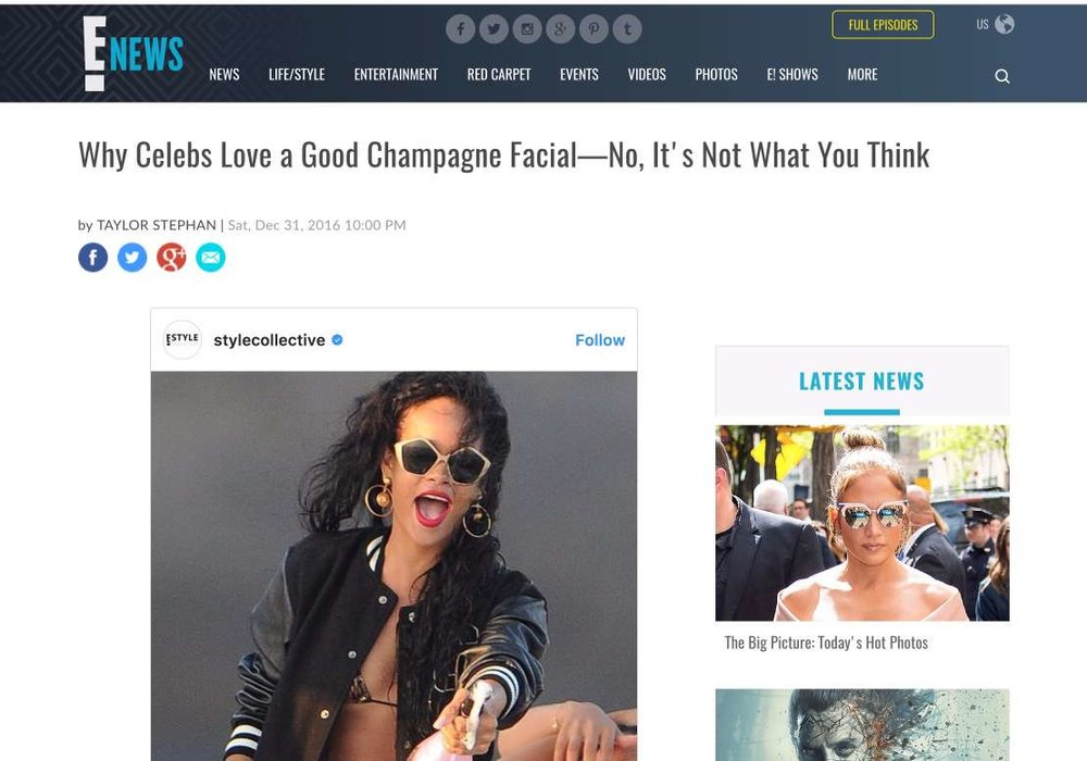 E! News: Why celebrities love a good Champagne Facial