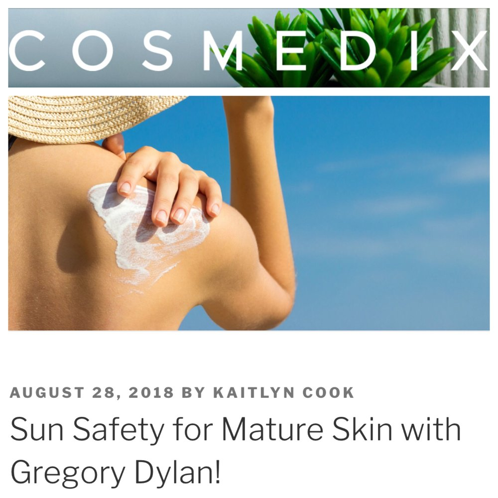 Gregory Dylan on COSMEDIX Blog!