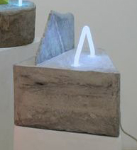 Ester Ruiz   New Stone Age,  2012 Cement, plexi, marble, neon 10 x 17 x 4 $1500 / $1700 with podium