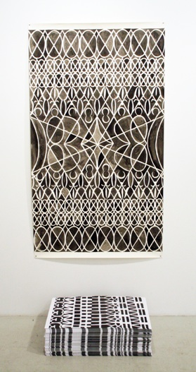 Julia Schwadron   XOXO,  2012 Ink on Paper 42 x 84 in $ 1500