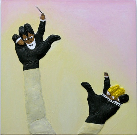 Gina Beavers Jazz Hands, 2012 acrylic on canvas 24 x 24 inches $2500