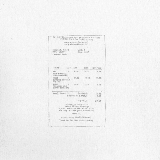 Karl LaRocca   Receipt *: 40120,  2011 Graphite on paper 10 x 10 inches $450 framed