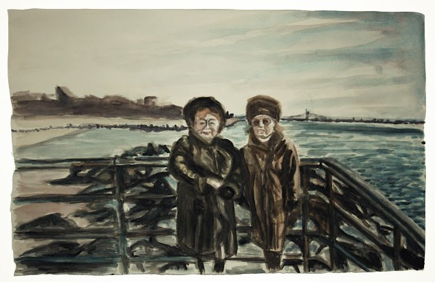 Polina Barskaya   Manhattan Beach Winter,  2012 Watercolor on paper 22 x 35 inches $1600