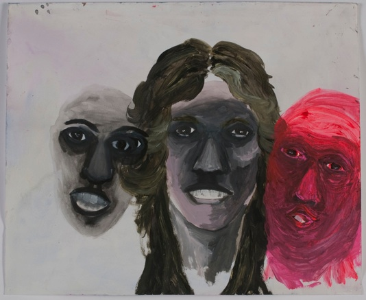 "Sarah Gamble    Untitled,  2012 Acrylic, ink on paper 14x17"" $1,000"