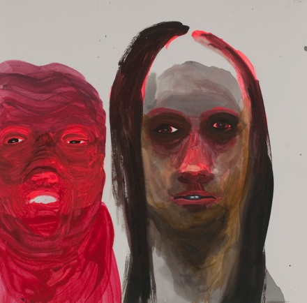 "Sarah Gamble    Freaks,  2012 Acrylic, ink on paper 12x12"" $1,000"