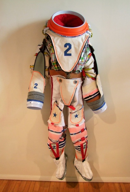 Betsy Odom   Bulldog 2 (Spacesuit)  Mixed media, human size