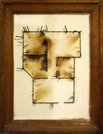 Andy Monk   Getting Off To An Okay Start,  2010 matches, plaster, wood frame 15 x19 inches $1500