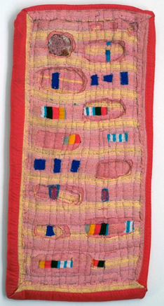 Maria Pithara Grooves, 2013 Mixed Media 40 x 19.5 in $1,700