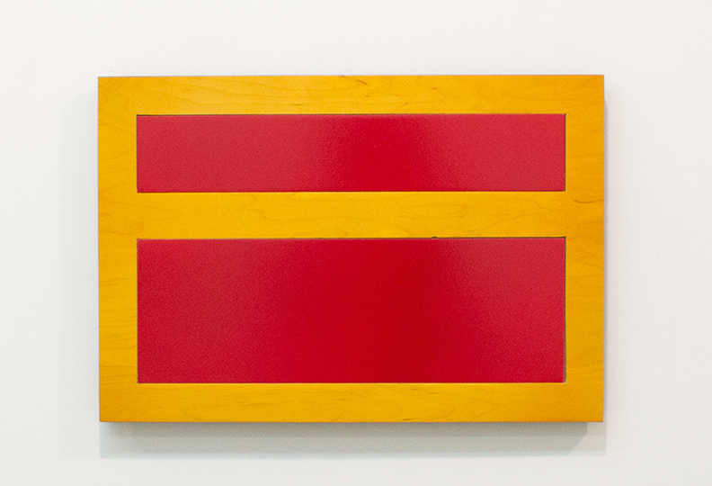 Tom Kotik Red Inset, 2013 wood, paint 19 x 13 x 1.25 inches
