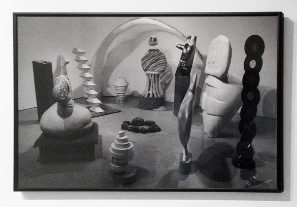 Julie Ann Nagle,  Modern Studio , 2014, Black and white digital print, 19 x 30 inches