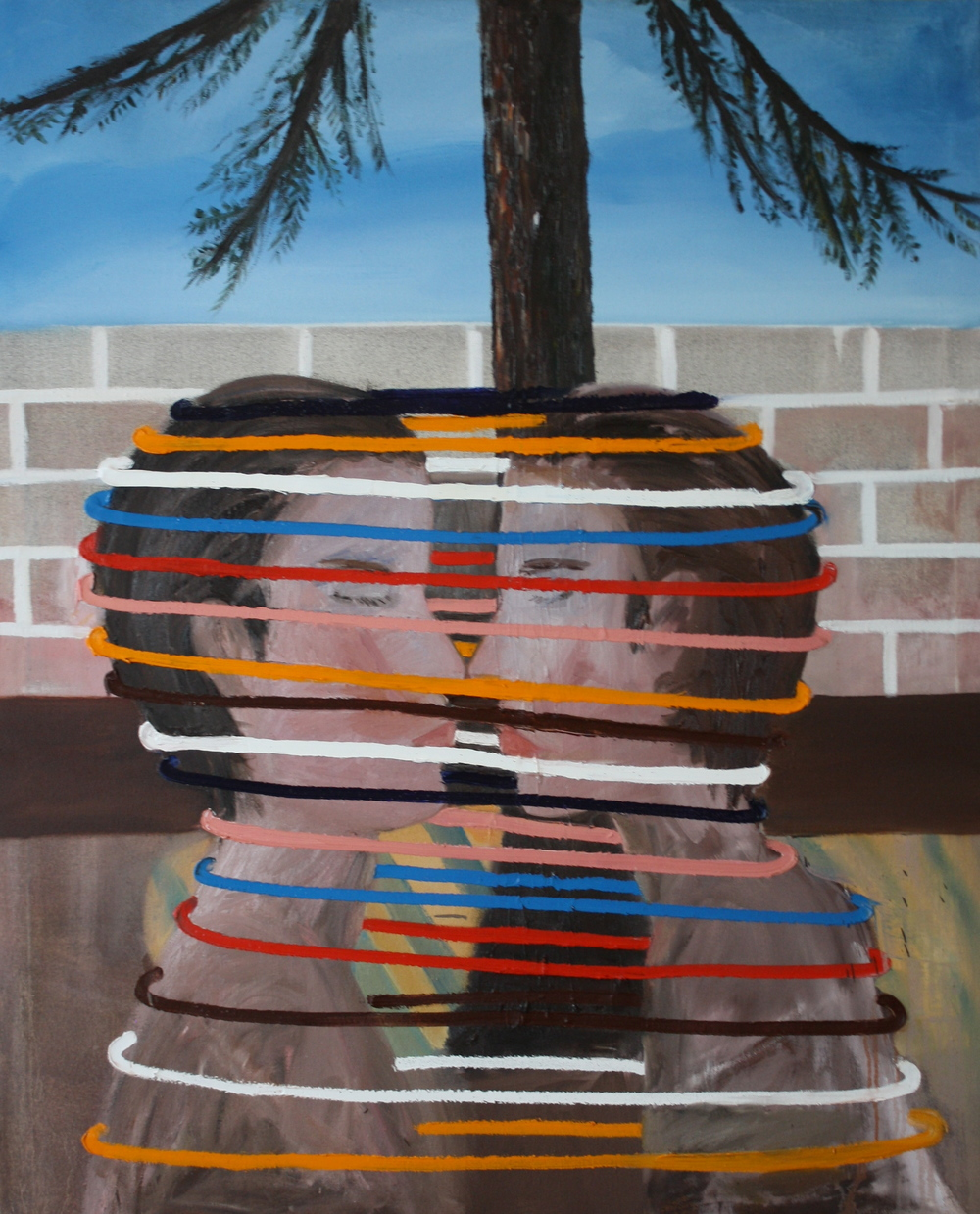Tyler weeks  Pine , 2014 Oil on canvas 39 x 48 inches $4,500