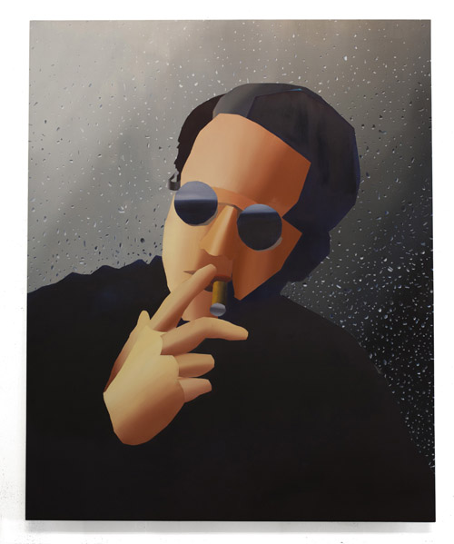 Jonathan Chapline   Virtual Character on a Hyperreal Surface , 2014 Oil on panel 53 x 43 inches