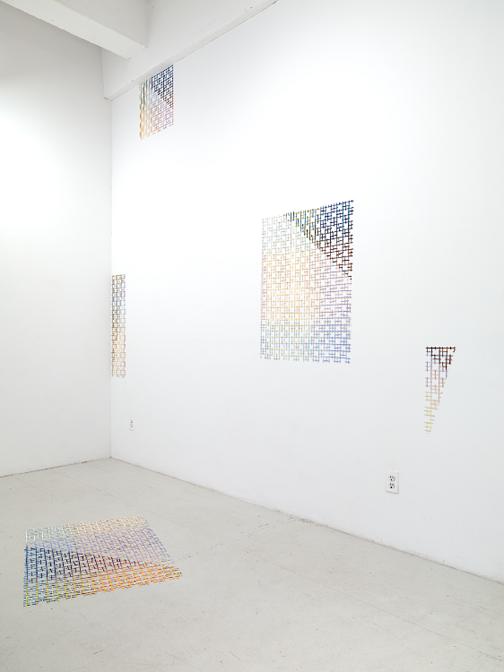"""Cut Light / Open Late"" installation View by Joell Baxter and Stella Ebner"