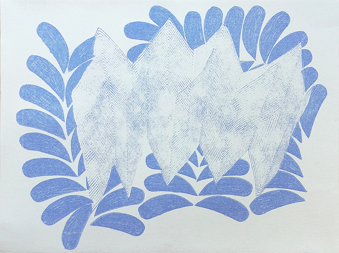 "Laura Kaufman,  To The Mountain (#7) , Transfer pigment on paper, 11"" x 14"""