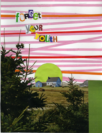"Karl Erickson,  Forget Your Youth , collage, 8.5x11"", 2009"