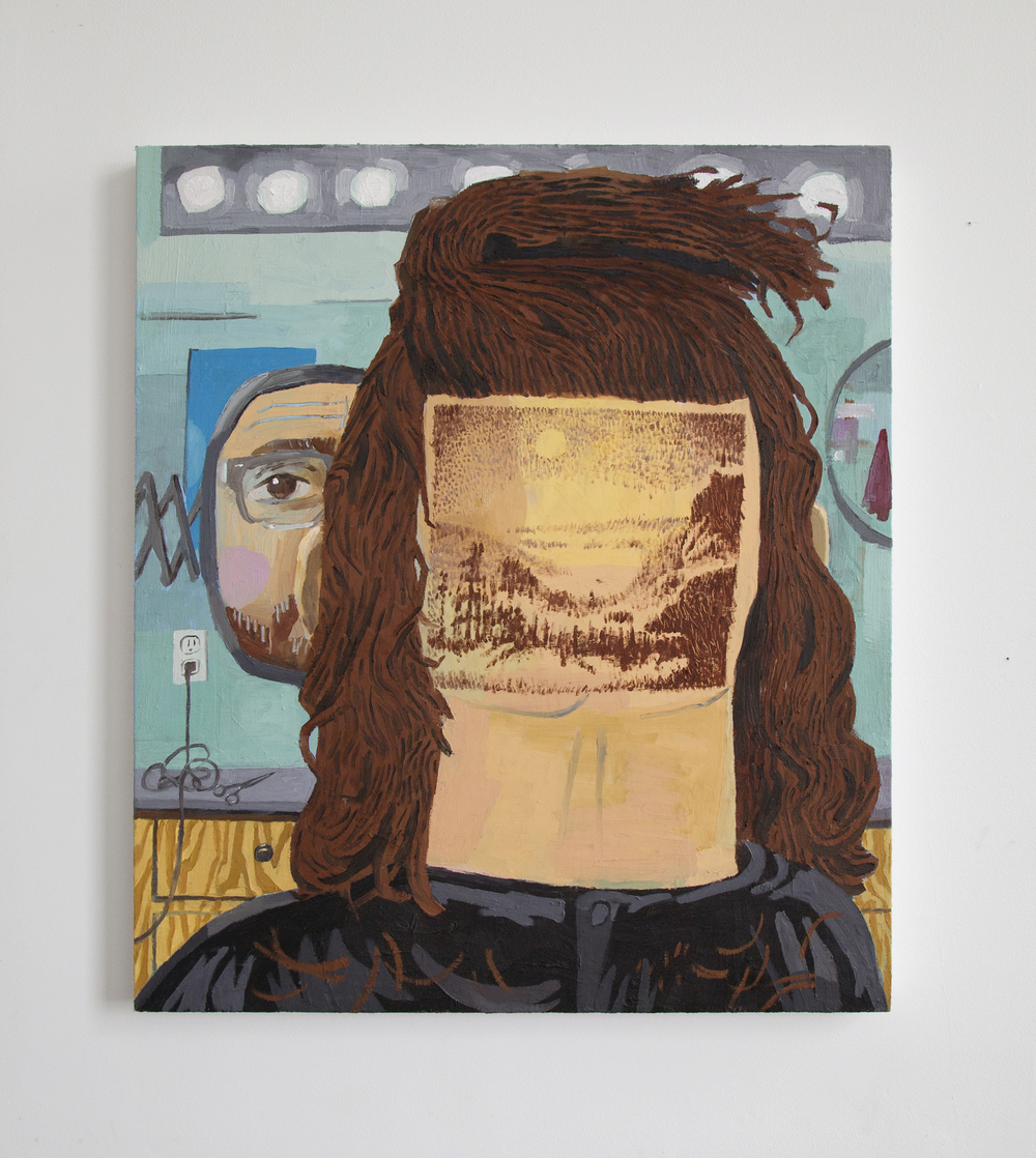 "Paul Gagner / Hairscaping / oil on canvas / 26""x30""   http://www.paulgagner.com"