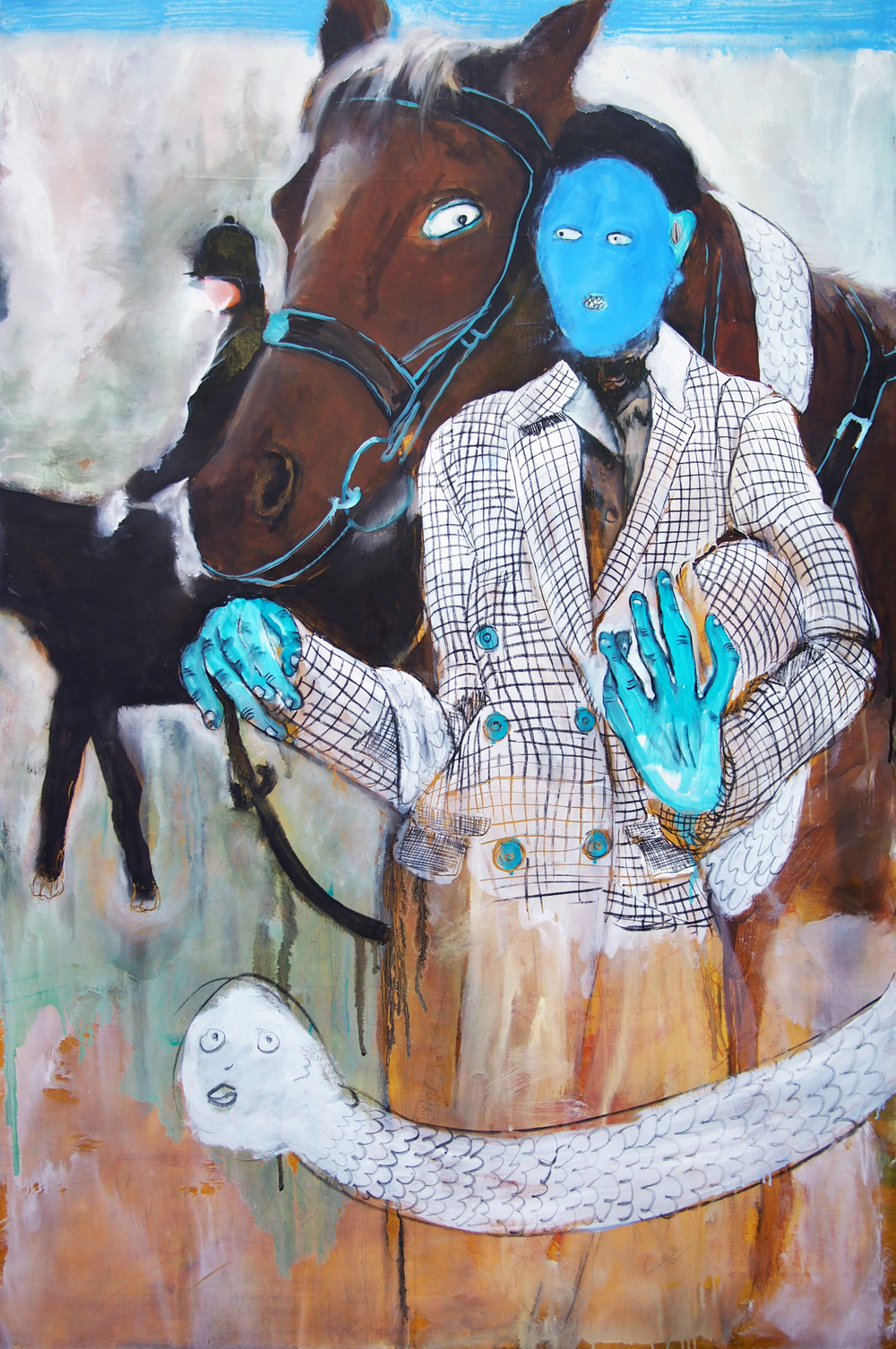 "Jac Lahav / Horst / Oil and Charcoal on Canvas / 32"" x 48""   http://www.jaclahav.com"
