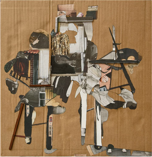 HORSES, collages and mixed-media on cardboard, 31.5in x 33in,  2015