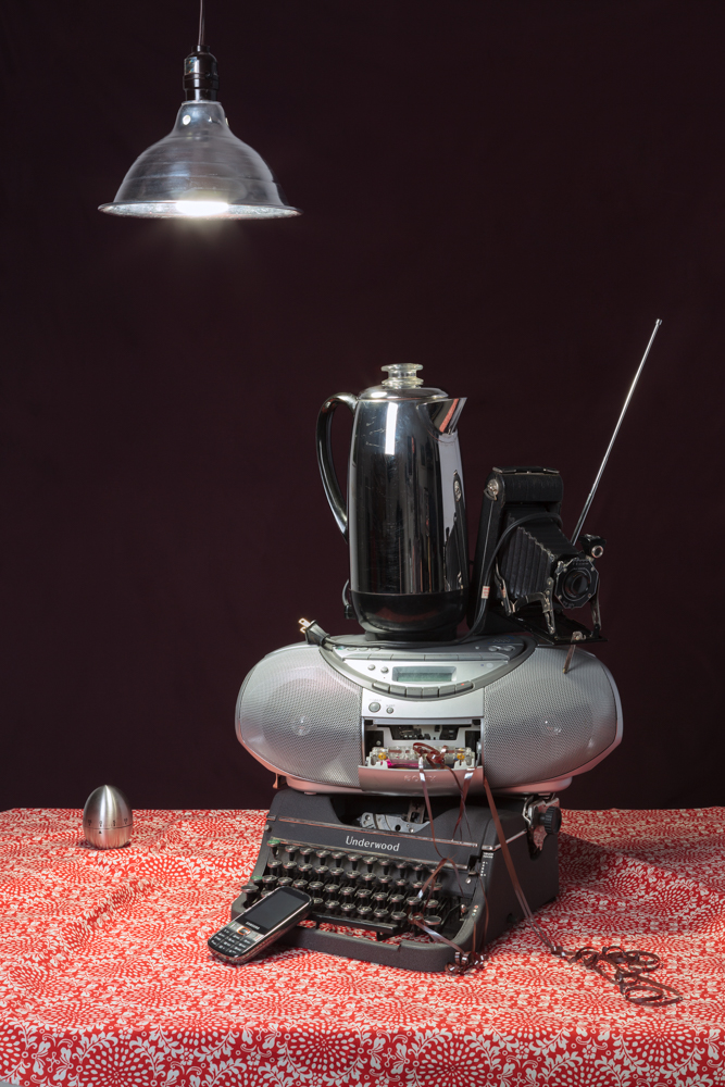 Jeanette May, Tech Vanitas: Gray Typewriter, 2016, Archival Print, 24 x 36""