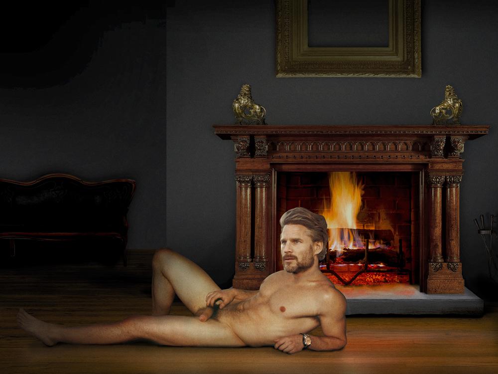 """Jayson Bimber Fireplace  Archival inkjet print  30 x 24"""""""