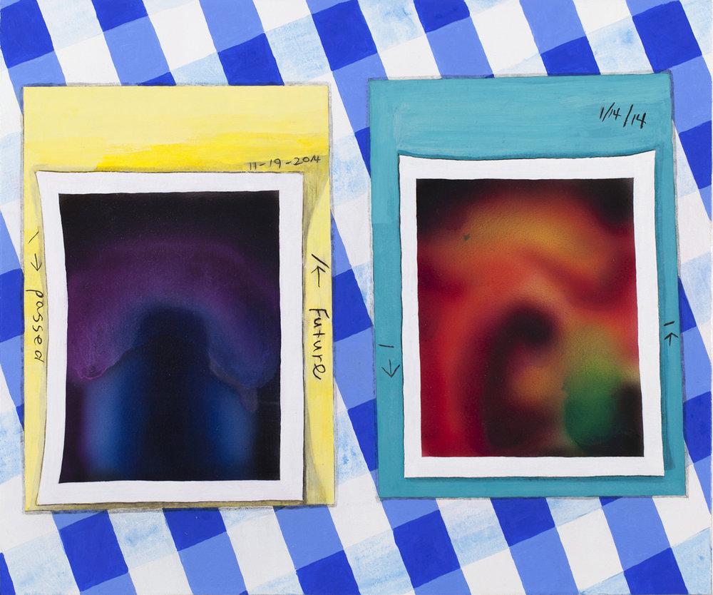 """Aura Photographs,   , acrylic and oil on panel  , 24"""" x 20""""  , 2015"""