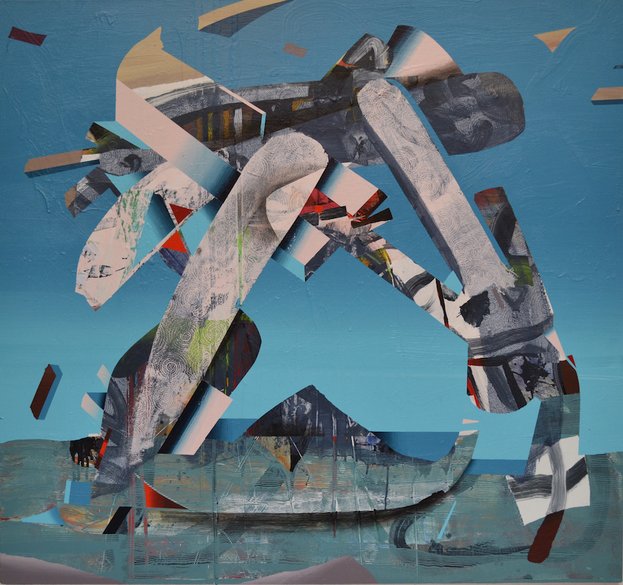 "Dan Angeli, Prey in Luck, 51""x 46"", acrylic on canvas, 2016"