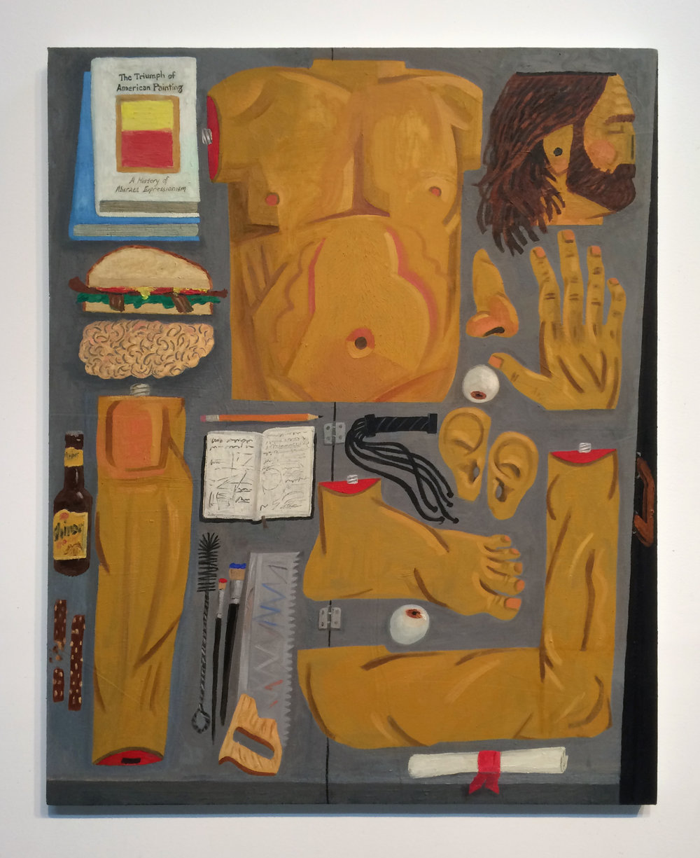 "Paul Gagner ""THE PORTABLE ARTIST"", 2016, Oil on canvas, 40 x 32"""