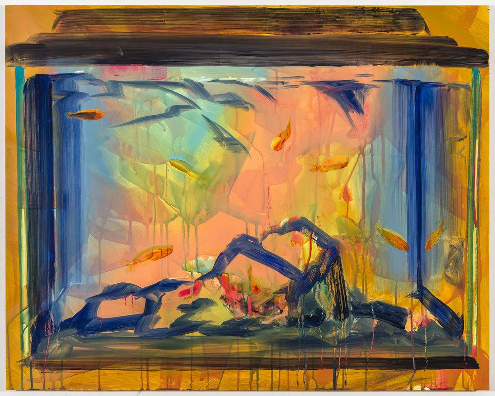 "Rachel Schmidhofer, ""PARTLY CLOUDY"", 2016, Oil on panel, 23 ¾ x 29 ¾"""