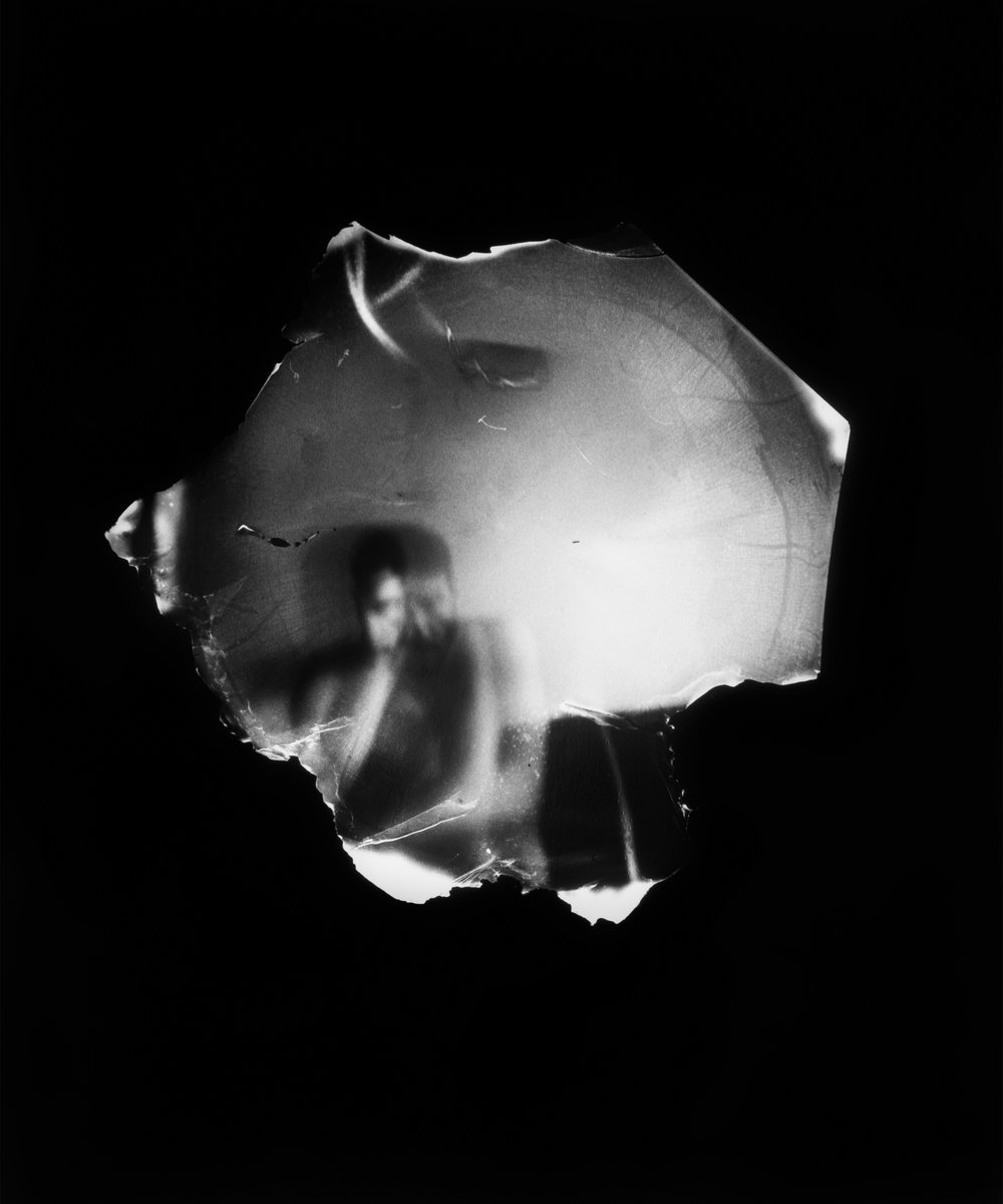 "Dani  Lessnau ""Untitled"",  2017, Silver  gelatin  print,  15  x  18"""