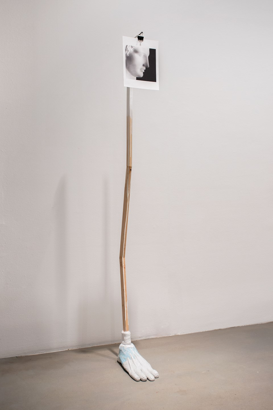"Vincent Chen ""Looking For My Penis"" / 2017 / multimedia sculpture / 76"" x 12"" x 15"""